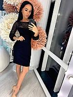 4425fb0d1a4 LeButon. г. Одесса. Платье миди креп-дайвинг стрейчевая сетка с напылением