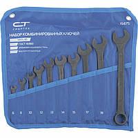 Набор ключей комбинированных, 6 - 22 мм, 10 шт., CrV, фосфатированные, ГОСТ 16983 СИБРТЕХ (15475)