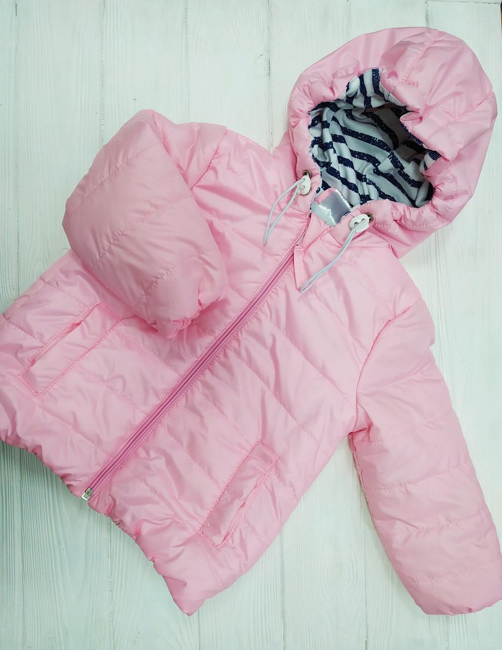 Курточка демисезонная для девочки Розовая