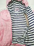 Курточка демисезонная для девочки Розовая, фото 4