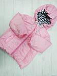Курточка демисезонная для девочки Розовая, фото 2
