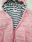 Курточка демисезонная для девочки Розовая, фото 3