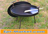 Сковорода + крышка 40 см из диска  для пикника и дачи