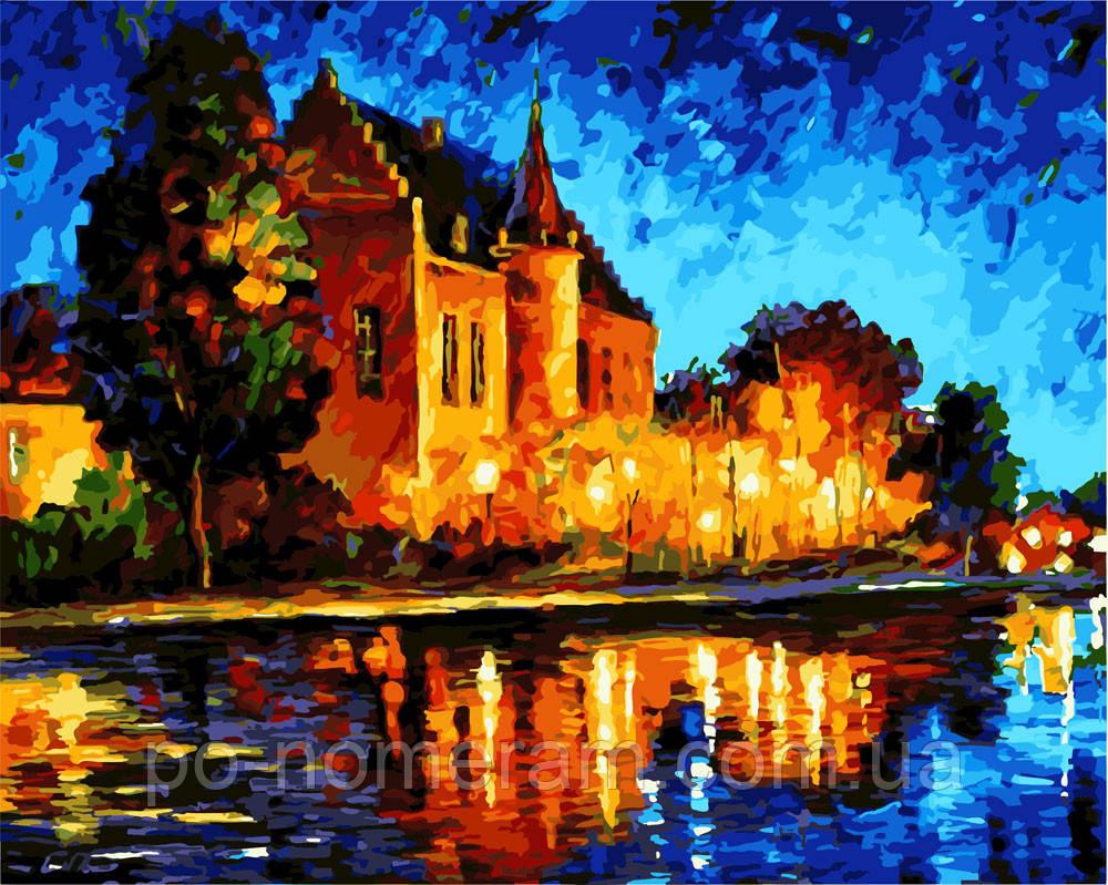 Раскраска для взрослых Дом в лучах заката (BRM3466) 40 х ...