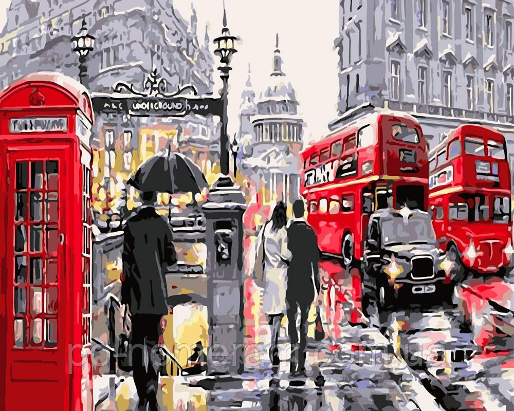 Раскраска для взрослых Лондонский дождь (BRM3518) 40 х 50 ...