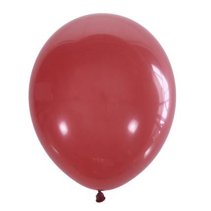 """Шар 5"""" (12 см) Мексика пастель 006 RED (красный), фото 2"""