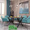 Стол обеденный Виннер. Размер 1200х750х750. Металл Дизайн