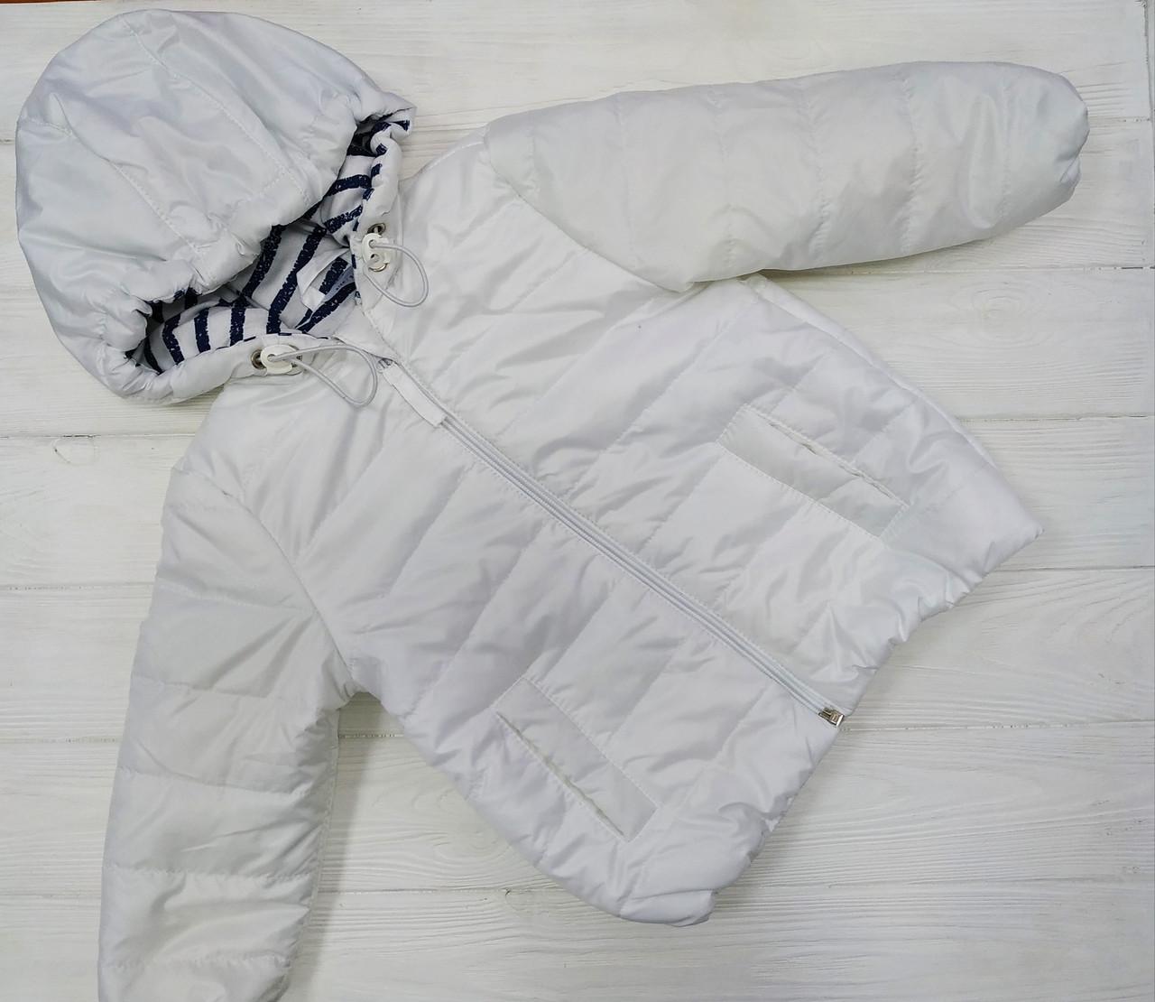 Курточка ветровка демисезонная Белая
