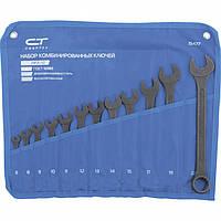 Набор ключей комбинированных, 6 - 22 мм, 12 шт., CrV, фосфатированные, ГОСТ 16983 СИБРТЕХ (15477)