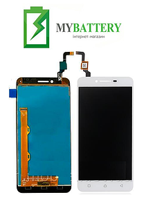Дисплей (LCD) Lenovo A6020a40 Vibe K5 с сенсором белый (желтый шлейф)