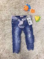 Джинсы для девочек оптом, размеры 1-5 лет, S&D. арт. DT-057