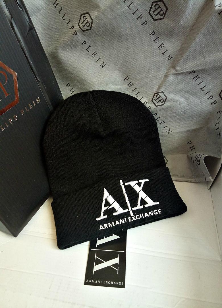 a686cff2347d Черная унисекс шапка Armani Exchange