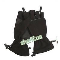 Перчатки-варежки зимние флисовые  (Black)  12546002