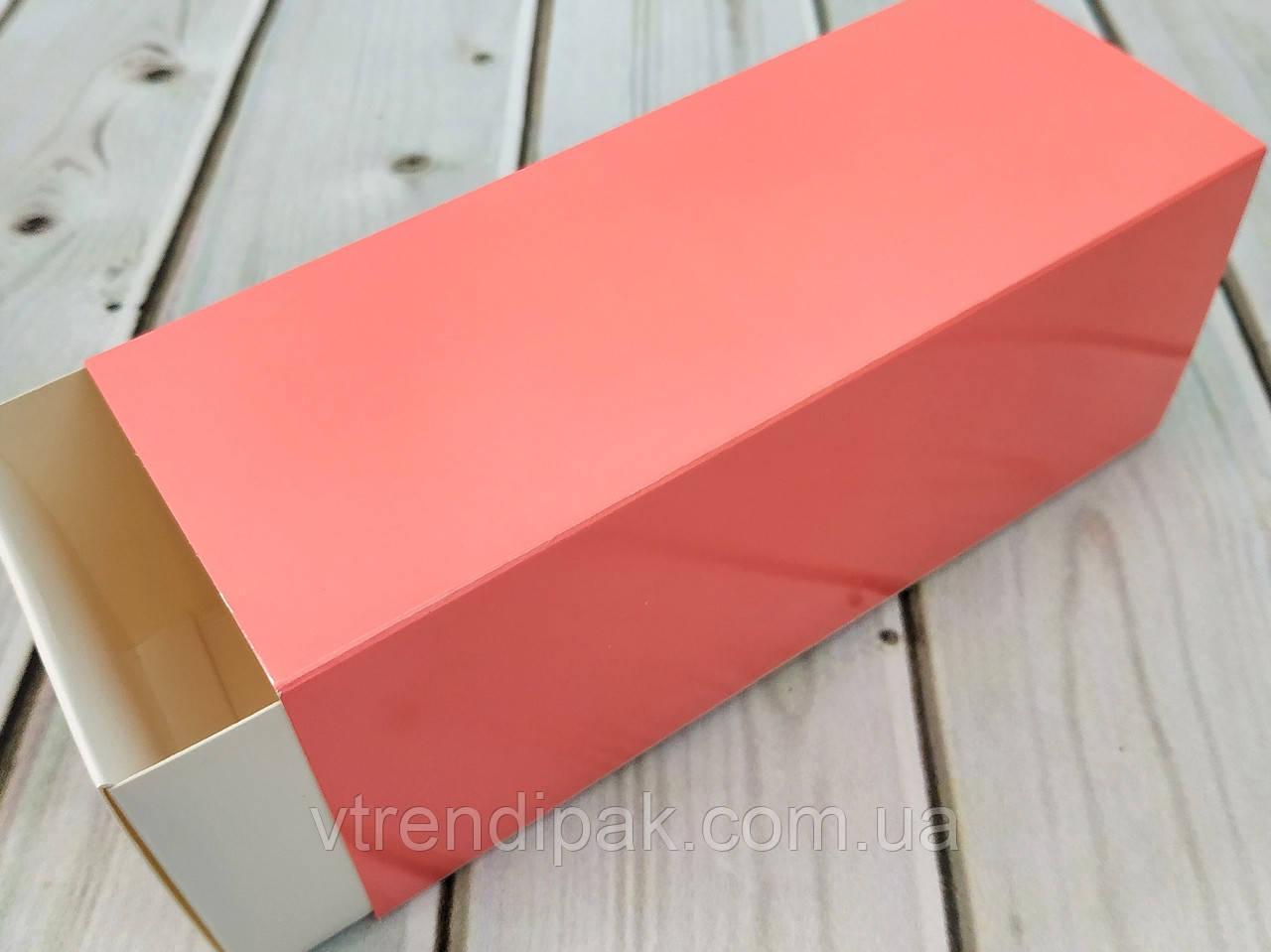 Коробка для macarons 160*65*65 рожева