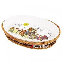 Форма керамическая овальная 2,1л Kamille 6300