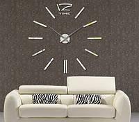 Декоративные самоклеющиеся настенные часы Woow white (диаметр 1 м), фото 1