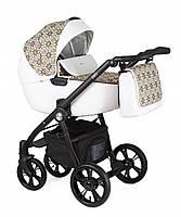 Детская коляска универсальная 2 в 1 Roan Esso Gold&White Ornaments (Роан Эссо, Польша)