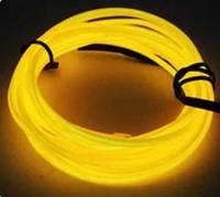 Светящаяся неоновая лента, 5 м., цвет на выбор желтый