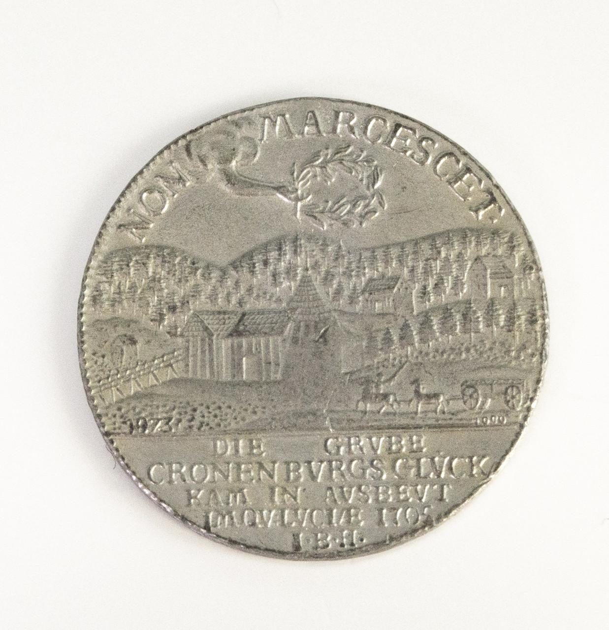 Сувенирная монета, скорее всего из олова, Германия