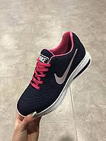 Nike Air Zoom Pegasus 34 синие с розовым