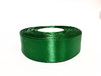 Лента атласная 2,5см / 33метра «Лесной Зелёный »