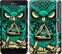 "Эксклюзивный чехол на телефон Sony Xperia Z3 Compact D5803 Сова Арт-тату ""3971c-277-18714"""