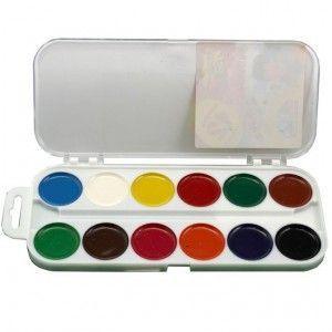 Краски акварель медовые ГАММА Увлечение 312045, 12 цветов, с/кист.