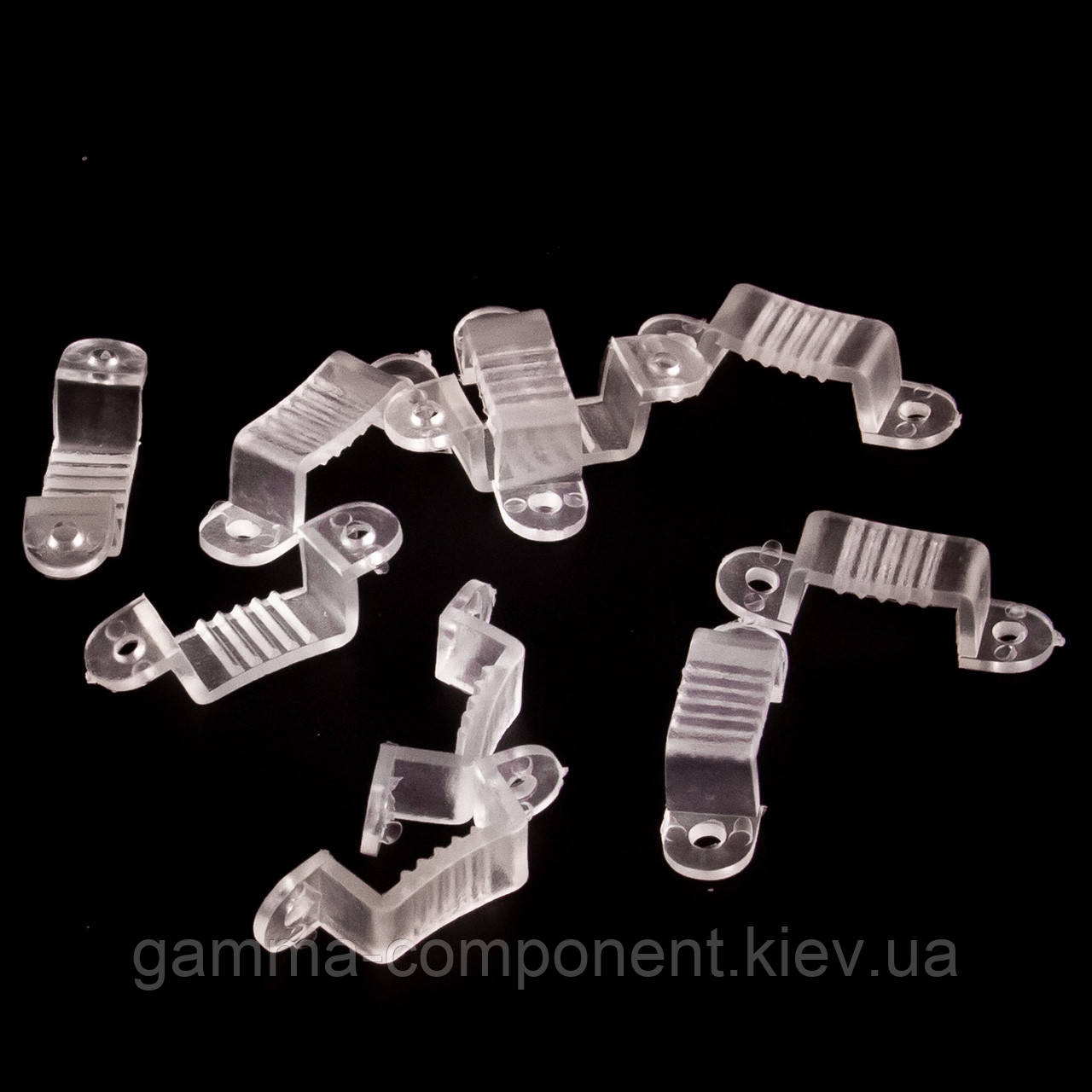 Монтажная клипса для светодиодной ленты 220В  AVT smd 5050-60 лед/м
