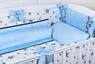 """Дитяча сатинова постіль """"GRAY STAR"""" з блакитним кольором (№6-310), фото 5"""