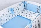 """Детская сатиновая постель """"GRAY STAR"""" с голубым цветом (№6-310), фото 3"""