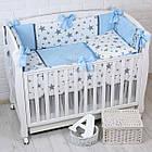 """Детская сатиновая постель """"GRAY STAR"""" с голубым цветом (№6-310), фото 9"""