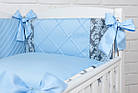 """Дитяча сатинова постіль """"GRAY STAR"""" з блакитним кольором (№6-310), фото 4"""