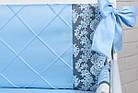 """Дитяча сатинова постіль """"GRAY STAR"""" з блакитним кольором (№6-310), фото 6"""