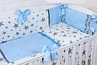 """Дитяча сатинова постіль """"GRAY STAR"""" з блакитним кольором (№6-310), фото 8"""