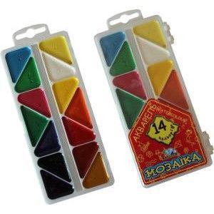 Краски акварель медовые ГАММА Мозаика 312056, 14 цветов, б/кист.