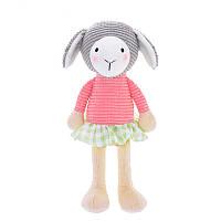 Мягкая игрушка Овечка в розовом свитере, 24 см
