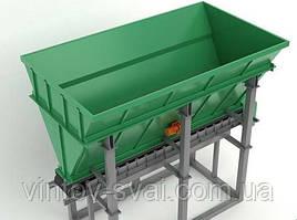 Бункер хранения инертных материалов (песка и щебня) с ленточным питателем БП-ЛП