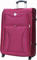 Дорожный чемодан на колесах тканевый Bonro Tourist большой вишневый, фото 1