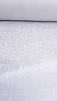 Льняная сетчатая ткань белоснежного цвета (шир. 150 см), фото 1