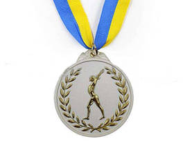 Медаль спорт d-6,5см С-4851-2 серебро (Гимнастика)