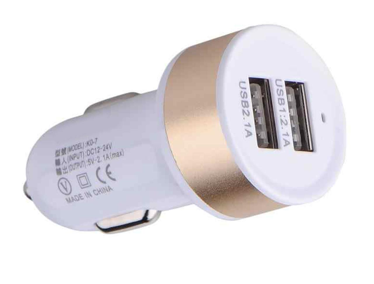 USB зарядка от прикуривателя в авто на 2 USB 004/0041