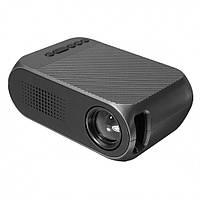 Мультимедийный портативный мини проектор Projector LED YG-320 Mini Black 700 lumen Оригинал, Гарантия
