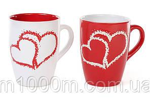 Чашка керамическая Сердца 0,33 л. 3154