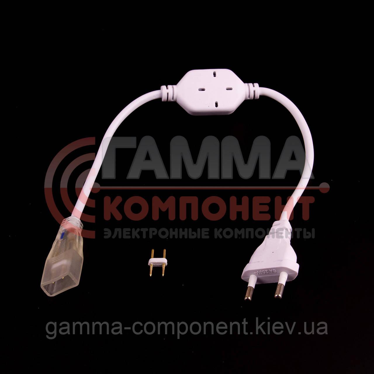 Адаптер питания для светодиодного неона 220В smd 2835-120 лед/м + коннектор 2pin
