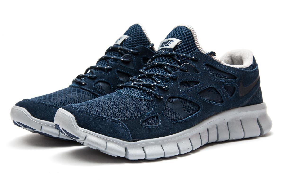 1bc51c38 Кроссовки мужские Nike Free Run 2+, темно-синие (13442) размеры в ...