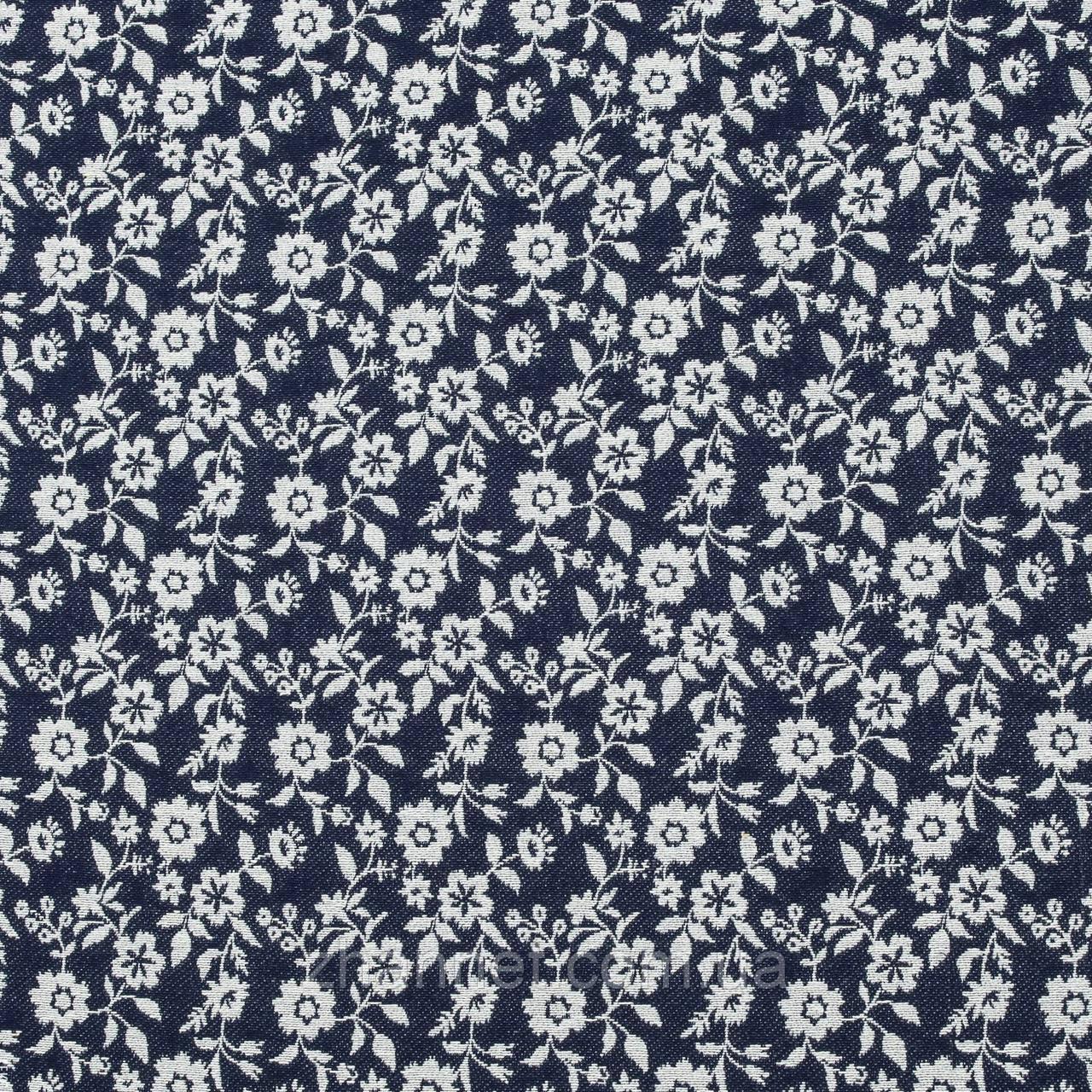 Тканина гобелен Маргаритка синій 150 см (006831)