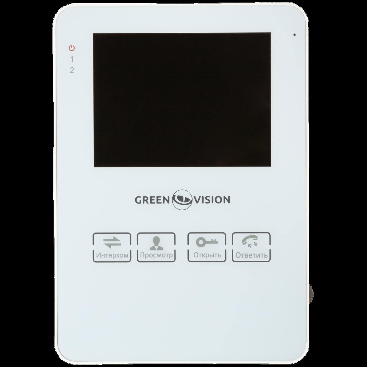 Цветной видеодомофон Green Vision GV-051-J-VD4SD white