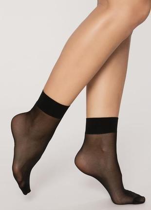 Носки женские капроновые черные с лайкрой, 40 ден. От 10 пар по 2,90грн