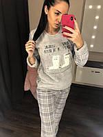 2625cfd62259 Тёплая пижама женская 4в1: кофта, штаны, тапочки, повязка на глаза. Размеры