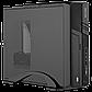 Корпус Slim LP S6055 BK USB 3.0x1, USB 2.0x1 + Блок питания Micro ATX 400W 8см, фото 3